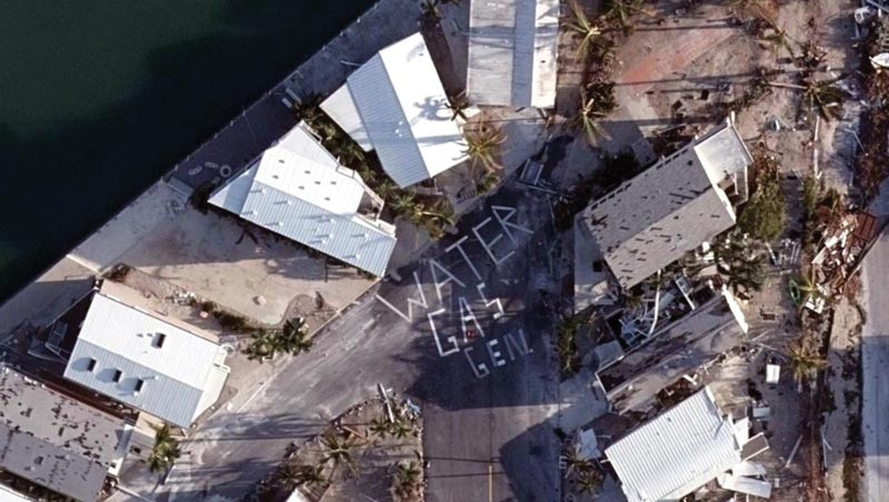 Post disaster imagery