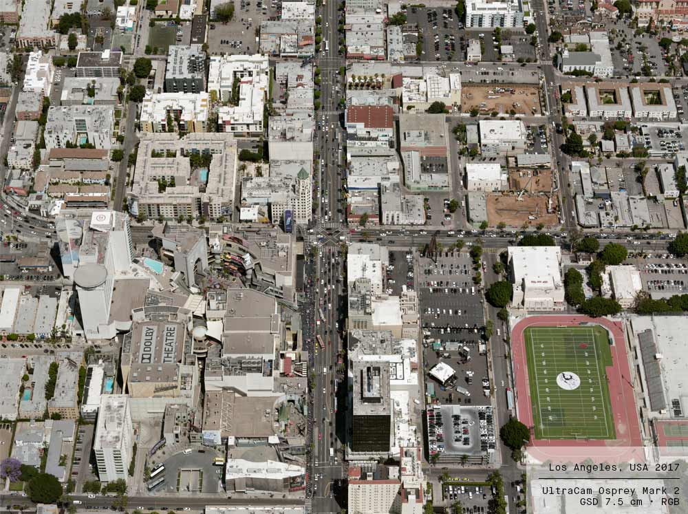 Orthophoto of Los Angeles, CA, USA