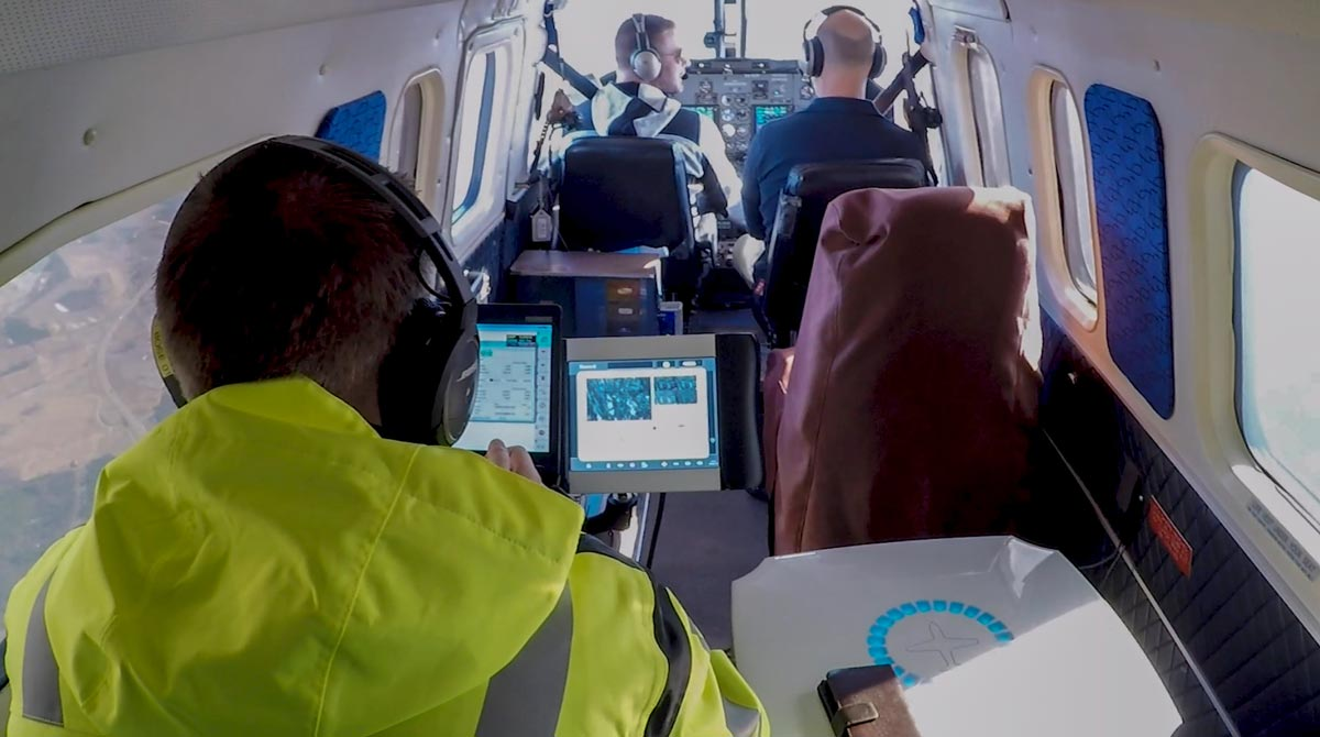 UltraCam installed in the aircraft