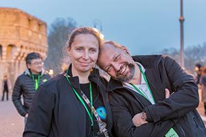 Krzysztof Konieczny with his wife