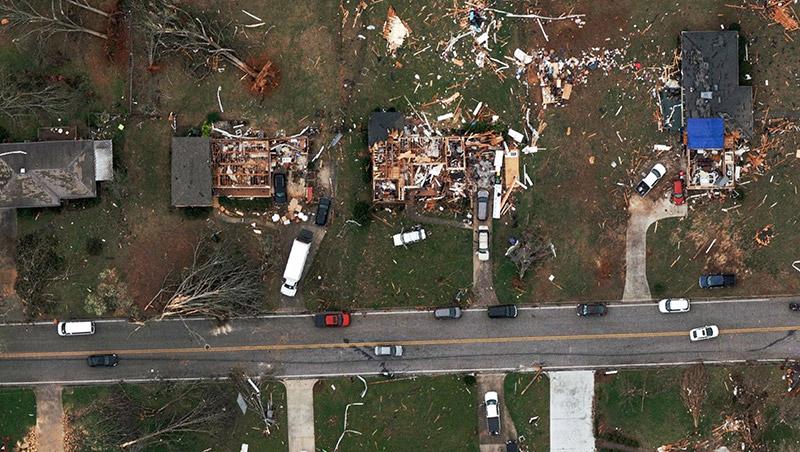 Aerial Image Georgia After Tornado