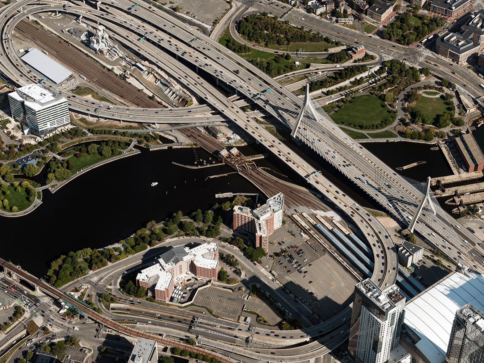 Aerial Image Boston Bridge