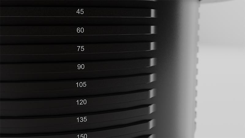 Ridged cylinder design for straightforward installation